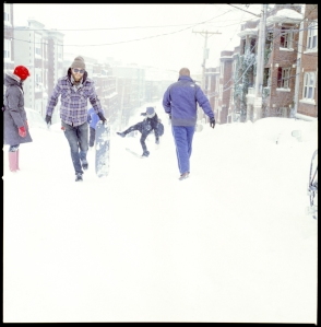 The next day and a half was easily mapped out once we discovered that Cory St. Hill was unplowed and very sled able.