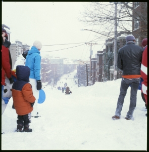 The Allston camaraderie kicked into high gear.  It was like a 20 something's version of red rover but with plows.