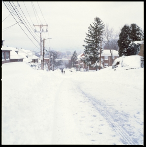 ...and snow downhill.