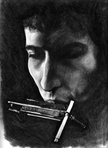 I used to draw the covers to my old albums.  It sort of just turned into sketching Bob Dylan all the time. I'm fine with it.
