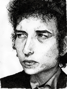 Baby Bob in pen and ink.