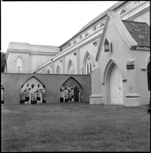 Church across from the jail.