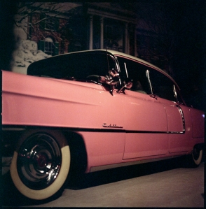 The King's Pink Caddy.
